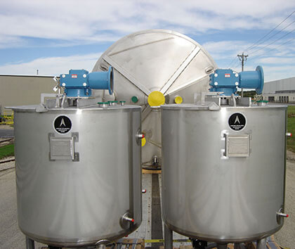 Sanitary Stainless ASME Tank with Stainless Steel Finish